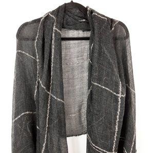 NWT Suzanne Betro Plaid Wool Blanket Scarf
